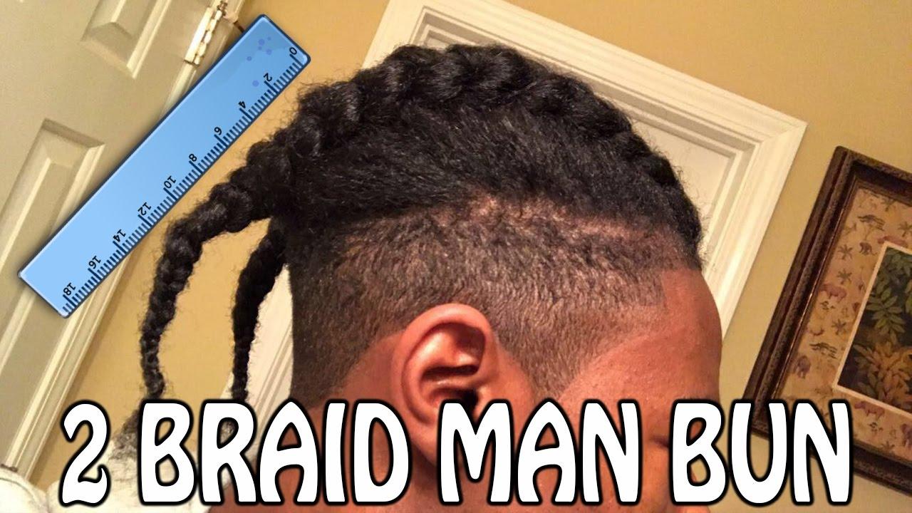 Two Braid Man Bun Hairstyle 2 Years Growth Length