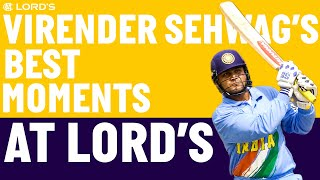 The Best of Virender Sehwag at Lord's! | England v India | Lord's