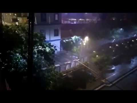 Taiwan Typhoon Soudelor live broadcast, Taipei 2015-08-07 11:00PM