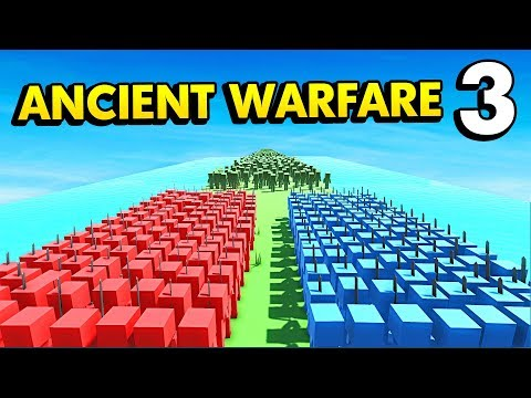 BLUE AND RED vs INFINITE ZOMBIES (Ancient Warfare 3 Funny Gameplay)