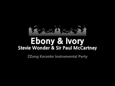 Stevie Wonder & Sir Paul McCartney-Ebony & Ivory (MR) (Karaoke Version) [ZZang KARAOKE]