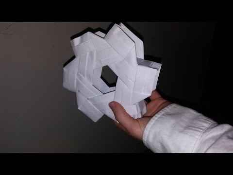 How to make an origami hexagonal prism(3D)