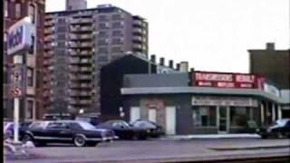 MBTA Streetcars on Huntington Ave. in 1987