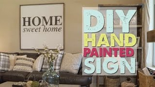 DIY Hand Painted Sign | Shanty2Chic