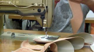 shoe making process Description of shoe making process with its parts and various manufacturing department detail, like cutting, machining, lasting and finishing.