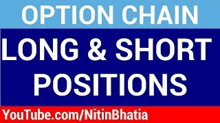 Option chain Analysis - Short and Long Positions (HINDI)