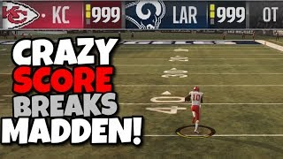 TIED at the Score Limit in Overtime!! WHAT HAPPENS?? Madden 19 Mythbusters