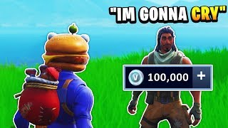 He Got No Presents on Christmas, So I Gave Him 100,000 V-Bucks - Fortnite