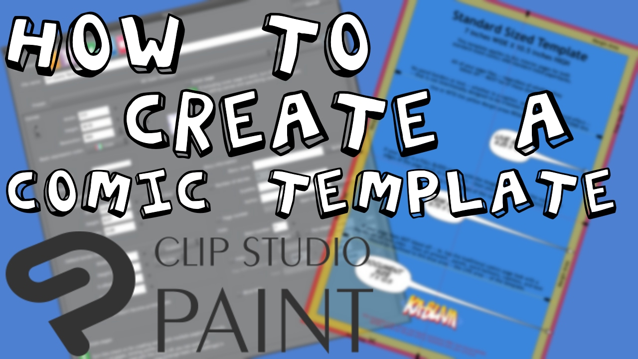 How to create a Comic Book Template in Clip Studio Paint - YouTube