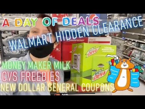 A Day Of Deals: WALMART HIDDEN CLEARANCE, Freebies, New DG COUPONS! Get PAID TO SHOP!