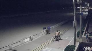 1 AM rumble on the Mission Beach Boardwalk