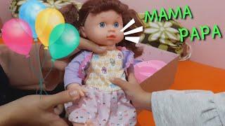 unboxing boneka bisa ngomong mama - review beli boneka