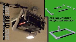 Diy Ceiling Mounted Projector Bracket Made From Pvc Pipe