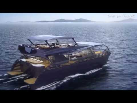 Solar powered yacht which can cruise the entire globe withou