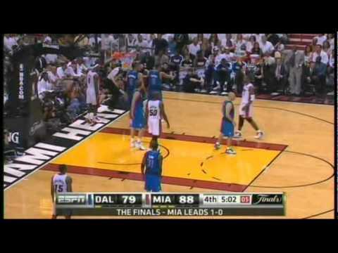 Dallas Mavericks Amazing Comeback vs the Heat - NBA Finals 2011 Game 2 (4th Quarter) Part 1 of 2