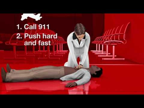 Hands Only CPR   Two Steps to saving a life