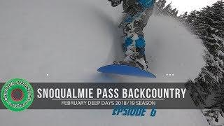 Backcountry Snowboarding Snoqualmie Pass Deep Powder February 2019 // Sled Shredding