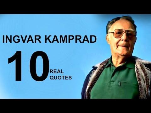 Ingvar Kamprad 10 Real Life Quotes on Success