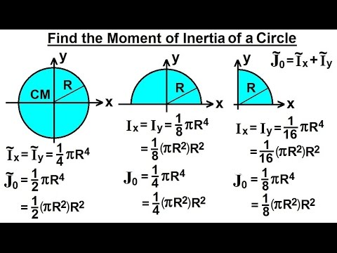 Mechanical Engineering: Ch 12: Moment of Inertia (28 of 97) Moment of Inertia=? Circle