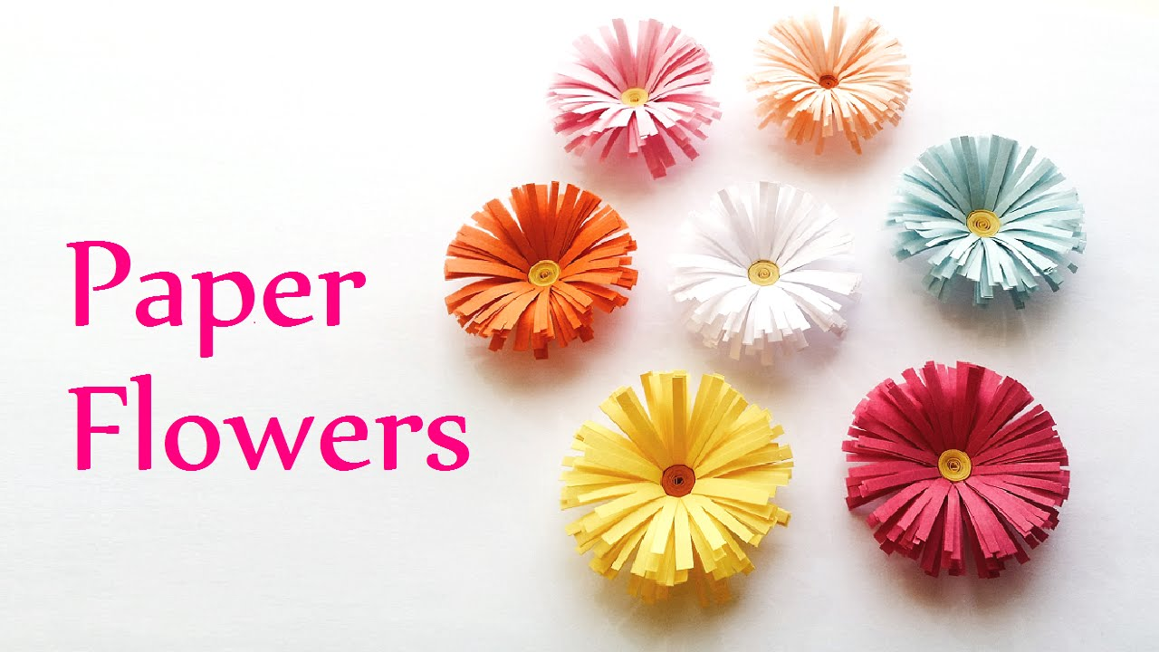 Diy Crafts Paper Flowers Daisies Innova Youtube Origami Nut Spring