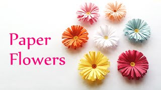 DIY crafts: PAPER FLOWERS (daisies) - Innova Crafts(DIY crafts: Paper Flowers (daisies) - Innova Crafts How to make these cute paper flowers. ( Subscribe free here: ..., 2014-07-24T18:43:43.000Z)