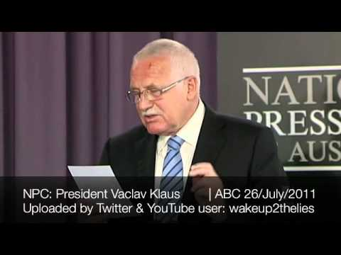 President Vaclav Klaus of the Czech Republic | National Press Club Address in full