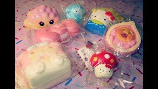 Kawaii Squishy Haul~! Slow Rising Cloud, Hello Kitty and My Melody