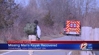 Authorities pull missing kayak from Providence River Sunday
