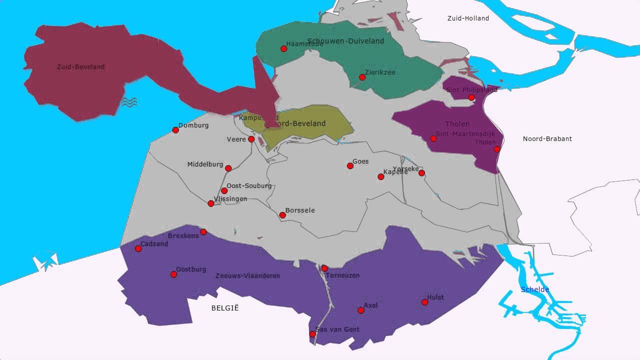Topografie Provincie Zeeland Www Topomania Net