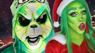 Nina's Grinch Makeup Tutorial