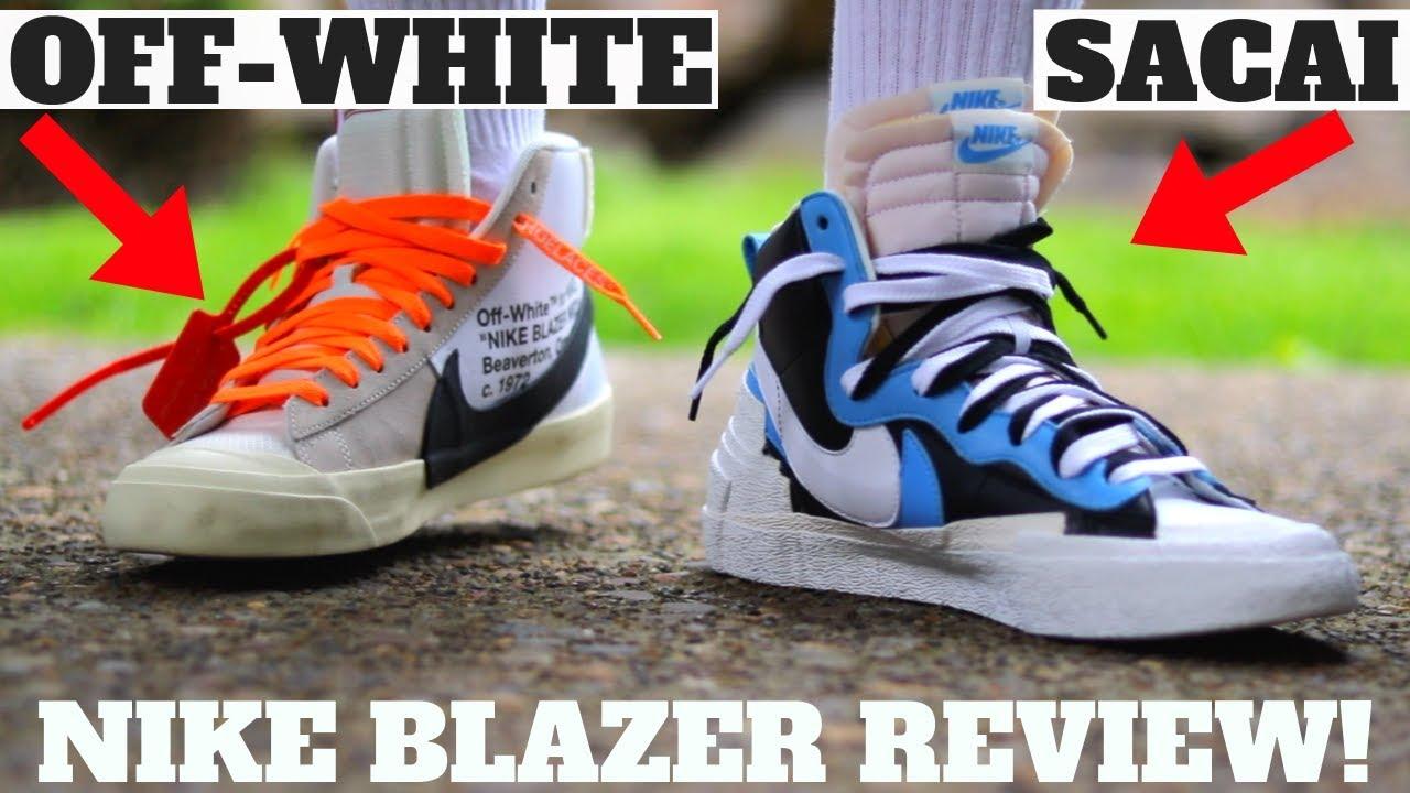 Sacai x Nike Blazer Mid Compared To Off-White Review + On Feet!