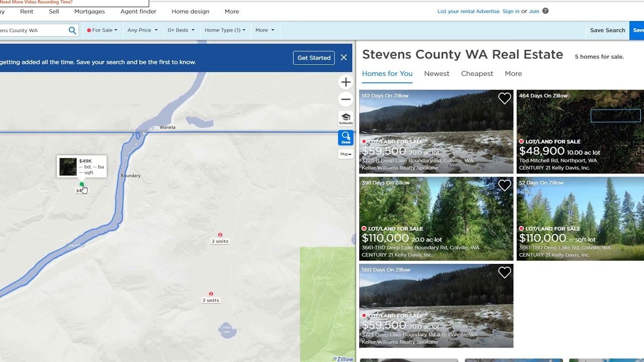 Land Deal in Stevens Cty. - Junction of Columbia & Pend Oreille Rivers