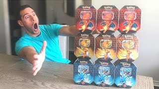 *ENTIRE BOX OF HIDDEN FATES TINS!* Opening NEW Pokemon Cards HIDDEN FATES Booster Box!