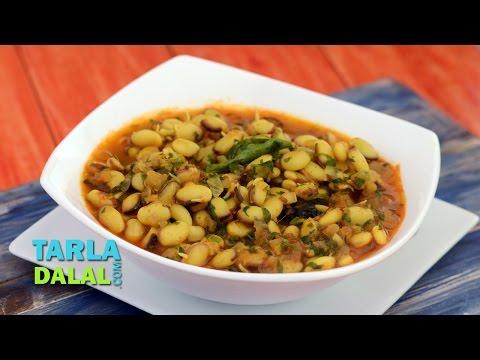 Sprouted Vaal ki Usal (Iron Rich Recipe) by Tarla Dalal