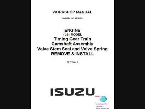 isuzu d max 2011 4jj1 common rail diesel engine workshop manual rh youtube com 2017 Isuzu Trooper Isuzu Hombre
