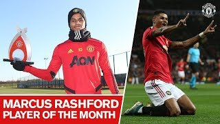 Marcus Rashford wins November39s Player of the Month award  Manchester United