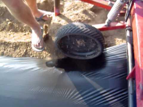 видео: Мульчирование клубники полиэтиленовой пленкой. Высокие грядки.