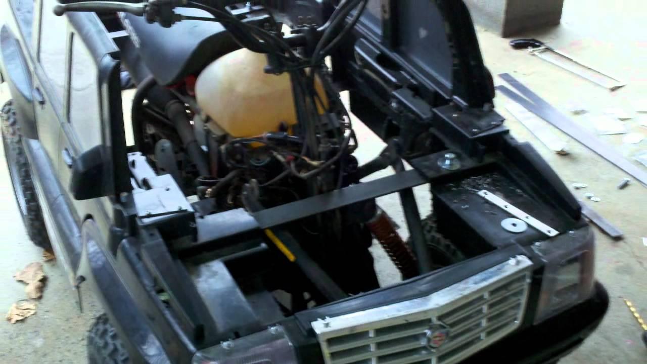 Modifying A Powerwheels Escalade With A Polaris Scrambler 90cc (50cc)  2-Stroke