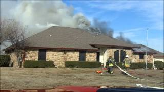 Residential Structure Fire - Wylie Texas Jan 2013 - WFR Dash CAM with Audio
