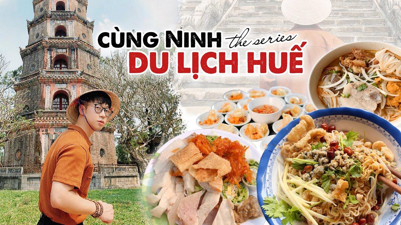 Đi ăn CƠM HẾN 10K siêu ngon, bánh cuốn tôm chua, bún bò mệ Kéo // Cùng Ninh DU LỊCH HUẾ series