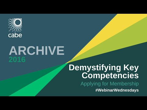 Demystifying Key Competencies - Applying for Membership