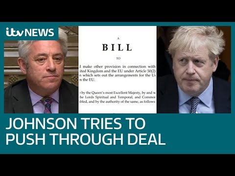 Boris Johnson bids to fast-track Brexit bill through Commons in three days | ITV News