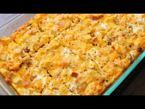 Easy Stuffing Sausage and Egg Breakfast Casserole