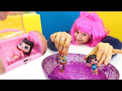 LOL bebekler SPA salonuna gidiyor! Kız oyunları