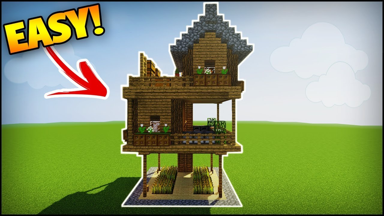 minecraft how to build a 2 player survival house easy tutorial
