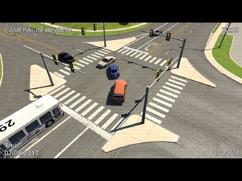 CCTV Crash Compilation 17 - BeamNG. Drive