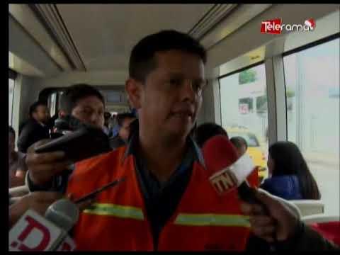 Ministro de transporte y alcalde Cabrera participan en recorrido del tranvía