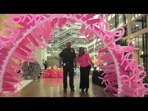 susan g komen balloon decor balloon city usa youtube - Breast Cancer Decorations