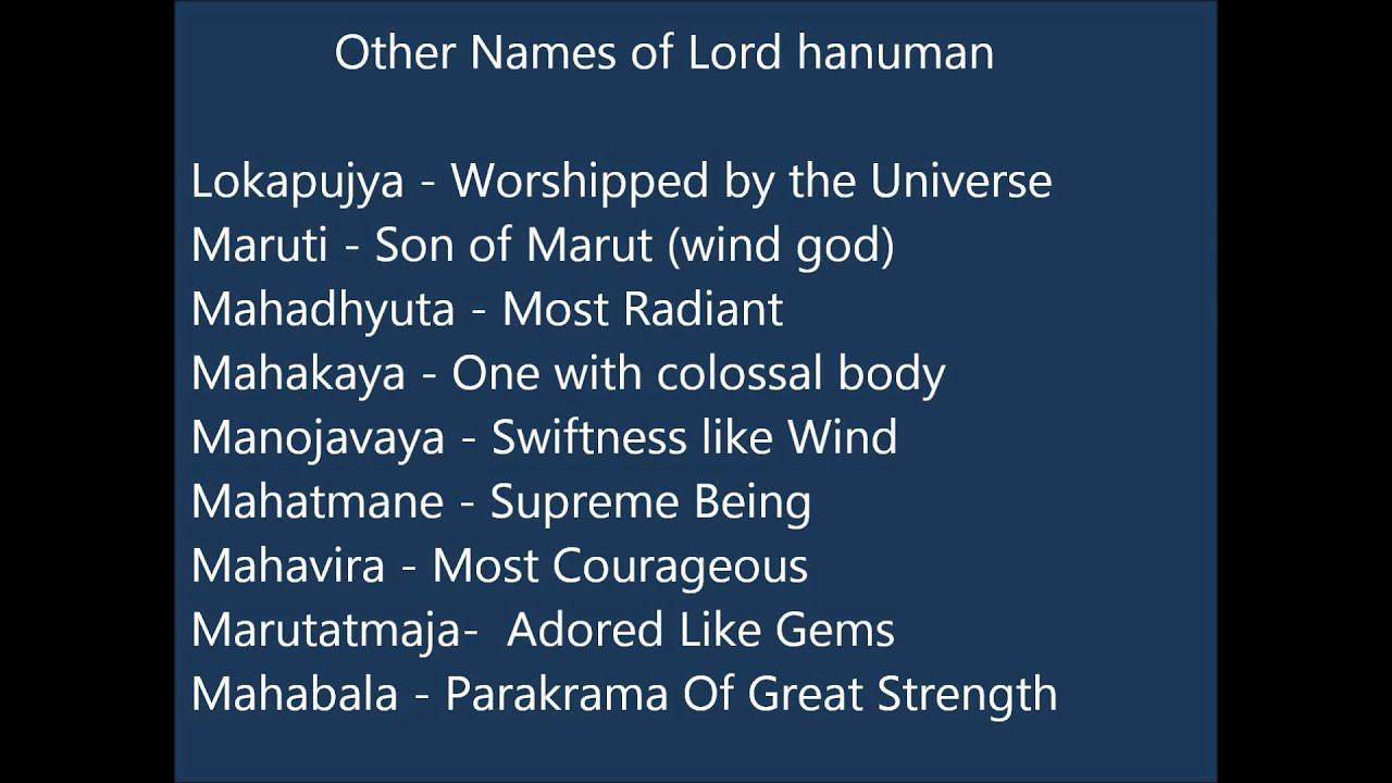753126bf26a6 Lord Hanuman Names For Indian Baby Boys - YouTube
