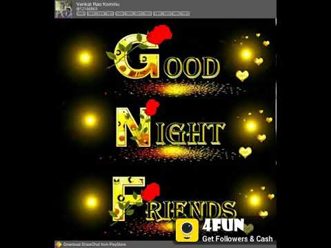 Good Night Friends Song Youtube